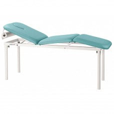 C4519 3 SECTION STATIONARY WHITE METAL TABLE ECOPOSTURAL