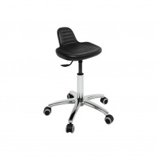 S4608 ALUMINIUM BASE STOOL WITH BLACK INTEGRAL SEAT ECOPOSTURAL